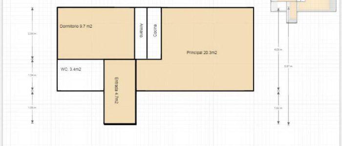 Plano apartamento en alquiler en el pirineo aragonés